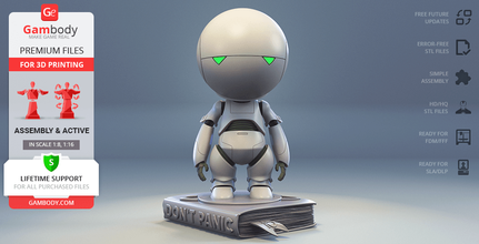 marvin paranoid android 3d printing model assembly marvin the paranoid android, marvin, marvin robot, assembly, action, robot, sci-fi, droid, heart of gold, alan rickman, 42, don't panic!, the hitchhiker's guide to the galaxy, douglas adams, marvin figure, marvin figurine, marvin model, marvin miniature, marvin the paranoid android figure, marvin the paranoid android figurine, marvin the paranoid android model, marvin the paranoid android miniature, 3d printing, stl files