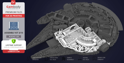 millennium falcon interior 3d printable parts kit 3 main hold lounge seat technical station millennium falcon 3d model, millennium falcon interior 3d model, millennium falcon engine 3d model, millennium falcon main hold 3d model, buy millennium falcon interior 3d print, star wars, ship, ships