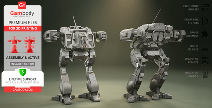 mwo shadow cat 3d printing model assembly + action shadow cat, mwo, mech, mwo, robot, robots, mechwarrior, mech warrior, battletech, battlemech, battle machine, assembly, action, active, omnimech, clan omnimech, battle of tukayyid, medium mech, video game, shadow cat model, shadow cat miniature, shadow cat figure, shadow cat figurine, 3d printing, stl files, inner sphere, star league, invasion