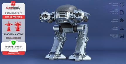 ocp ed-209 1987 3d printing model assembly + action ed-209, ed 209, ed209, mech, robot, robots, robocop, robocop 1987, screen accurate ed-209, original ed-209 action, peacekeeping, articulated, omnicorp, cyborg, jose padilha, ocp, droid, enforcement droid, series 209, villain, law enforcement, joshua zetumer, drone, cyberpunk, alex murphy, crime, police, robo, detroit, superhero, ed-209 model, ed-209 miniature, ed-209 figure, ed-209 figurine, 3d printing, stl files