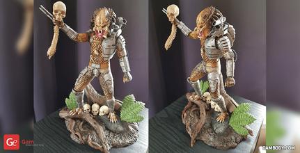 predator jungle hunter 3d printing figurine assembly predator, alien, movie, yautja, hunter, predator helmet, bad blood, hish, xenomorph, predator model, predator figure, predator figurine, predator diorama, predator miniature, 3d printing, stl files, villain, villains, horror