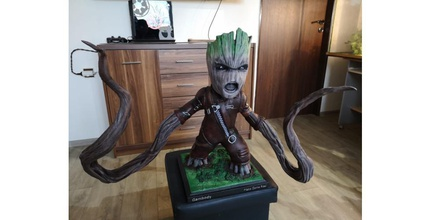 ravager groot 3d printing model assembly groot 3d print file download, avengers, buy groot 3d print model, groot 3d printer model for sale, baby groot 3d print purchase, guardians of the galaxy baby groot 3d print download, guardians of the galaxy baby groot 3D files buy, marvel, marvel 3d model, marvel model, comics