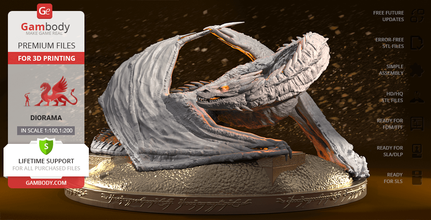 smaug golden 3d printing figurine assembly tolkien, dragon, drake, hobbit, lord of the rings, lotr, smaug figure, smaug figurine, middle-earth, smaug model, smaug miniature, 3d printing, stl files, smaug the golden, hobbit movies, smaug dragon, hobbit dragon, lonely mountain
