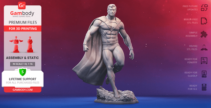 superman classic 3d printing figurine assembly superman, classic, superman classic, dc, dc comics, justice league, dc extended, dc extended universe, clark kent, kal-el, kryptonian, son of krypton, man of steel, smallville, man in the sky, steppenwolf, alien, superhero, house of el, daily planet, dark night, cyborg, heroes park, mother box, superman figure, superman figurine, superman model, superman miniature, 3d printing, stl files