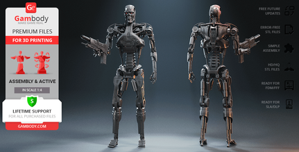 t-800 endoskeleton 3d printing figurine assembly + action T-800, t-800 endoskeleton, endoskeleton, terminator, terminator t-800, terminator t-800, Skynet, assembly, action, sci-fi, Terminator 2: Judgment Day, Terminator 2, Judgment Day, Sarah Connor, Cyberdyne Systems Series 800 Terminator, endoskeleton action, Westinghouse M95A1, Westinghouse, Arnold Schwarzenegger, t-800 endoskeleton model, t-800 endoskeleton figure, t-800 endoskeleton figurine, t-800 endoskeleton miniature, terminator t-800 model, terminator t-800 figure, terminator t-800 figurine, terminator t-800 miniature, 3d printing, stl files
