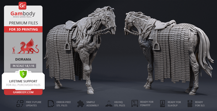 wight horse 3d printing figurine assembly undead horse, night king, wight horse, ice walker, dragon, dragons, westeros, game of thrones, got, white walkers, undead horse figure, undead horse figurine, undead horse model, undead horse miniature, 3d printing, stl files, diorama