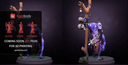 witch doctor dota 2 hero scale model 3d witch doctor, 3d witch doctor from dota2, 3d printable witch doctor, witch doctor from dota2 for 3d printing, buy 3d witch doctor, order 3d witch doctor, 3d witch doctor for sale, 3d model of witch doctor, 3d file of witch doctor