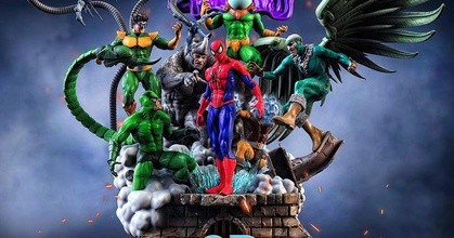 sinister six spider-man diorama stl files