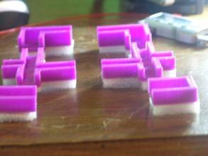 isolamento piedi prusa i3 8 mm struttura acrilica geeetech pinshape disegno 3d