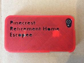 pinecrest retraite évadé iphone 4 4s cas pinshape Conception 3d