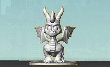 spyro eylem toplayıcı Heykeli pinshape şekil 3d tasarım heykel actionfigure oyuncak spyro