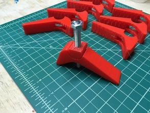 waste board clamp shapeoko x-carve & cnc pinshape 3d-design cnc x-carve holders cnc-clamps shapeoko-3 shapeoko-2 shapeoko