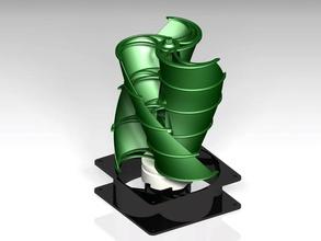 windrad vertikal Achse pinshape 3d design Windmühle