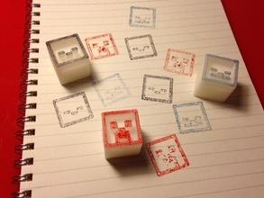 minecraft stamp blocks pinshape 3d-design