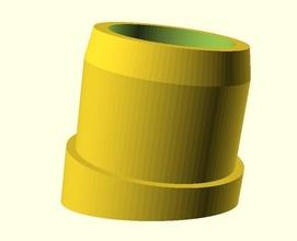 pé tubo perna cadeira mesa paramétrico angular pinshape 3d design