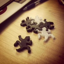 rep piastrelle escher pezzo puzzle pinshape disegno 3d