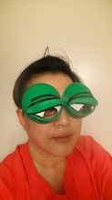 pepe frog holloween costume eyeglasses tie-on pinshape pepe-eyes frogs cartoon halloween-costume halloween alt-right donald-trump pepe-the-frog pepe