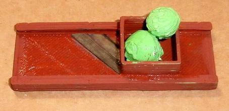 in legno slaw cutter cavolo shredder consiglio dai crauti pinshape disegno 3d