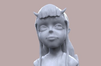 şeytan kız Heykeli pinshape heykel Kaya yaratık boynuzları kız oyuncak kız 3dprintedart 3d sanatçı karakter modeli karakter oyun oyuncak şeytan devils heykelciği büstü buste aksiyon figürleri aksiyon figürü şeytani İblis