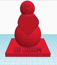 valentine's snowman pinshape print 3d 3dprint ornament pretty cute rojo corazon amor heart christmas-gifts i-love-you  red-heart desk ornament penguin love valentine valentines day