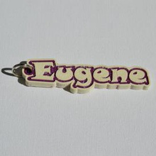 eugene pinshape eugene names tag nametag wanhao4s ultimaker3 ultimaker-3 wanhao leapfrog stickers decals sticker dual-filament dual-extrusion dual-color decal keyring keyrings keychain keychain-hanger
