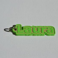 laura pinshape laura keychain-hanger keychain keyrings keyring decal dual-color dual-extrusion dual-filament sticker decals stickers leapfrog wanhao ultimaker-3 ultimaker3 wanhao4s nametag tag names frank badge badges