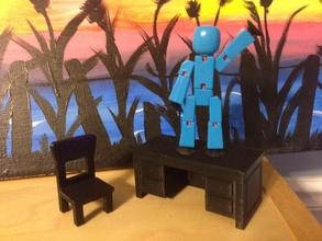 brinquedo cadeira secretária pinshape 3d design