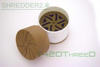 sdentato herb grinder shredder 20 beta pinshape erbaccia smerigliatrice 420threed 420 disegno 3d