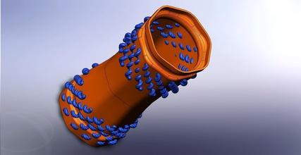 vase 206 pinshape large helical spiral robot 206 vase r2pv1com wperko solidworksmagi