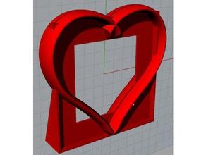 porta foto pinshape heart photo photo-holder holder porta-foto cuore