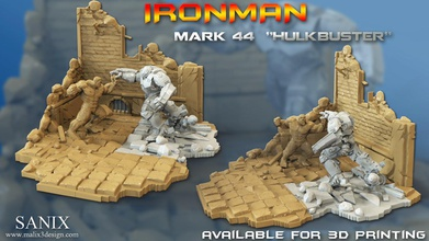 avengers scene-ironman hulkbuster 3d-printable file pinshape 3dprintable stl-file stl-free 3d-model- hulkbuster ironman marvel avengers