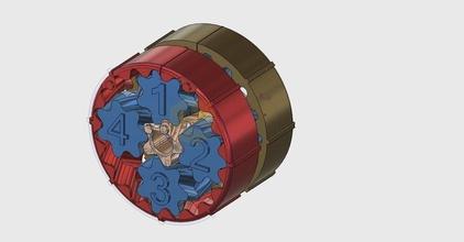mini nema 17 diferencial caja engranajes planetaria 38 75 1 504 pinshape Diseño 3d