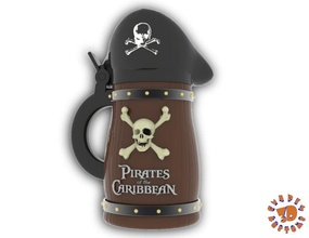 pirates caribbean beer stein - bubba style pinshape game-design-contest pirate pirates-of-the-caribbean  stein beer caribbean   pirates style bubba