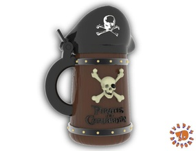 pirates caribbean beer stein - angled style pinshape pirates-of-the-caribbean stein beer  angled style pirates caribbean beer stein