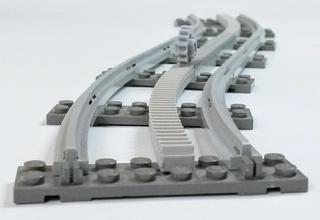 lego train courbe rack pinshape Conception 3d