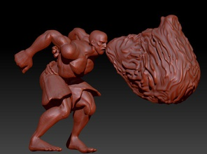 sf - dhalsim -floating flame pose - flame incl pinshape game sculpt sculpture fighter street-fighter dhalsim
