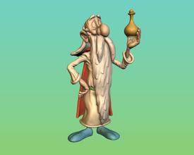 panoramix pinshape potion magie l'atelier jeux atelier 3d impression L'impression 3d figurine miniature comix dessin animé jouet gaulois gallia obélix asterix druide panoramox