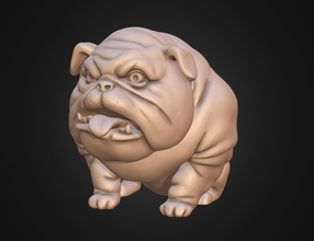 Hund englische Bulldogge stilisiert pinshape pet terrier pitbull americanbully drucken 3d statue Skulptur miniaturen Figur stilisierte Tier Englisch bulldog bulldog Hund