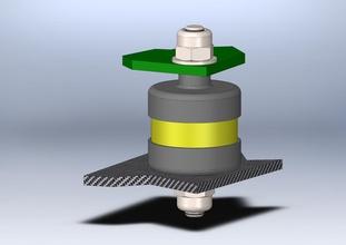 smorzatore vibrazioni controller volo pinshape rc copter controller ammortizzatore quad disegno 3d