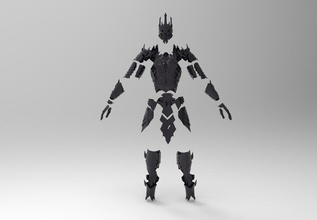 sauron armatura completa pinshape game design concorso disegno 3d