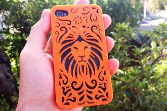 tribal lion étui iphone 4 4s pinshape coffre fort accident protection l' protéger téléphone cas téléphone mobile