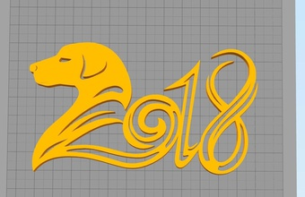 2018 christmas decoration pinshape - - - - -  - -2018 -christmas-decoration christmas-2018 dog-decoration decoration -new-year dog new-year-2018 2018