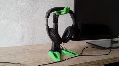 auricular apoyo titulares juegos diseño futurista pinshape impreso 3d apoyo juegos azar jugador titular heaset