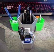 modular usb & pen holder 3000 pinshape usb-cap usbholder usb-modding usb usb-gadget usb-hub usb stick usb-flash-drive usb-drive usb-port usb-key micro-sd-holder micro-sd sdcard sd-card-holder sd card sdholder sdcard holder sd-card sd-storage sd holder sdcardholdersd card holder hexagonal customizable customisable custom cupholder cup holder cup
