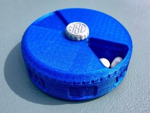 weekly pill case organizer monogram screw pinshape monogram 7-day organizer weekly medicine-box medicine container vitamin pill container pill-box pill-dispenser