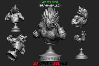vegeta bust - dragon ball pinshape manga anime scupltures statue heads bust dragonball dragonballsuper dragonball-z toppo jiren songoku goku vegeta vegeta-