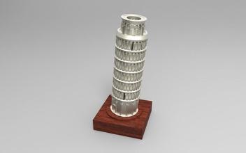 torre pendente pisa pinshape disegno 3d