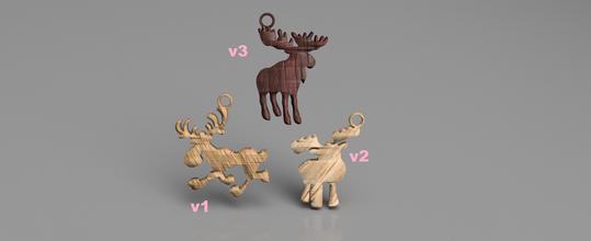 moose earring set pinshape idealab russia finland alaska nord-america norway sweden pendant pendants earring earrings christmas xmas moose moose-earring moose-earrings