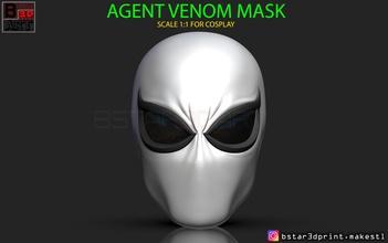 agent venom mask - marvel helmet 3d print model pinshape agent-venom-costume agent-venom-toy marvel-accessories marvel-toy marvel-cosplay marvel comics agent-venom-cosplay agent-venom-helmet agent-venom agent-venom-mask