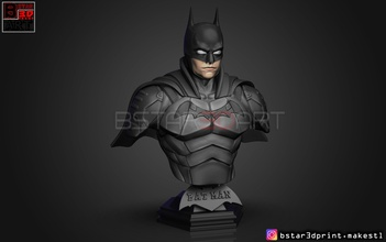 batman bust 2021 - robert pattinson - dc comic pinshape batman-movie batman-toy batman-head batman batman-3d-model batman-figure batman-robert-pattinson batman-bust batman-movie-2021